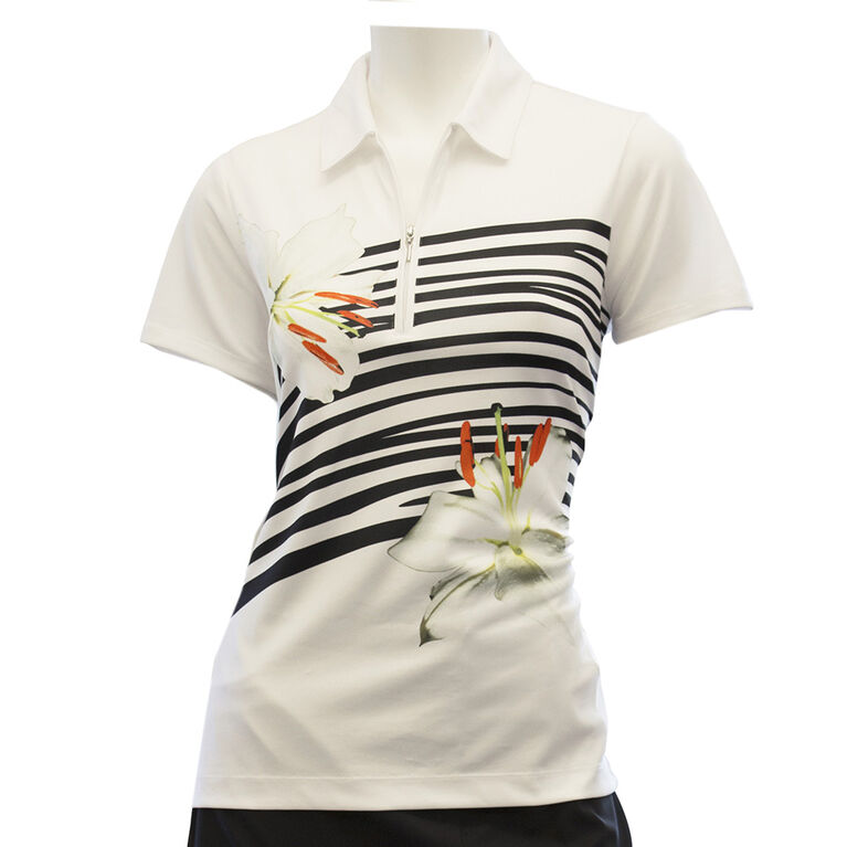 EP Pro Short Sleeve Animal Lily Print Polo