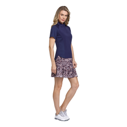 Skyline Collection: Lilly Short Sleeve Print Panel Polo