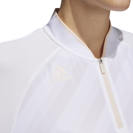 Girls Short Sleeve Quarter Zip Textured Polo Shirt