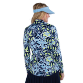 Alternate View 6 of NashVegas Collection: Floral Print Long Sleeve Quarter Zip Pull Over