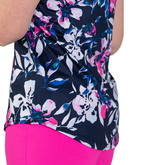 Alternate View 4 of Rojito Collection: Floral Sleeveless Polo Shirt