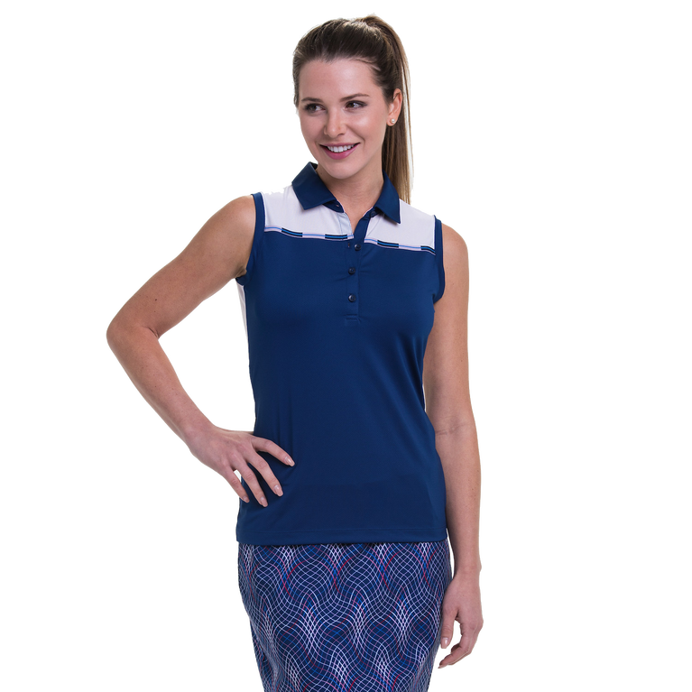 American Beauty Collection: Sleeveless Colorblock Top