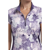 Alternate View 1 of Impatiens Collection: Short Sleeve Floral Polo Shirt