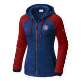 Chicago Cubs Women's Full Zip Hoodie