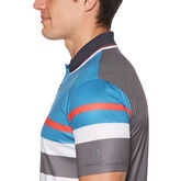 Alternate View 2 of Geo Print Stacked Stripe Short Sleeve Polo Golf Shirt