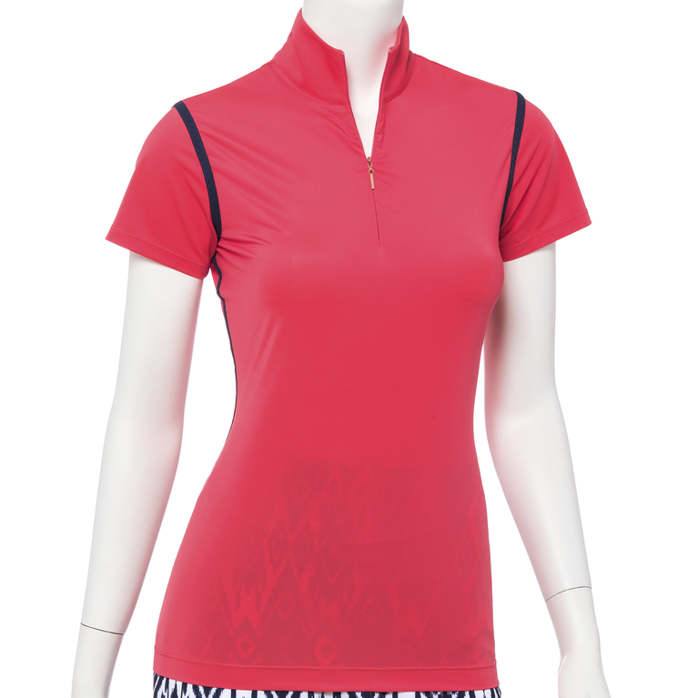 The Gemstones Collection: Cap Sleeve Contrast Trim Polo Shirt