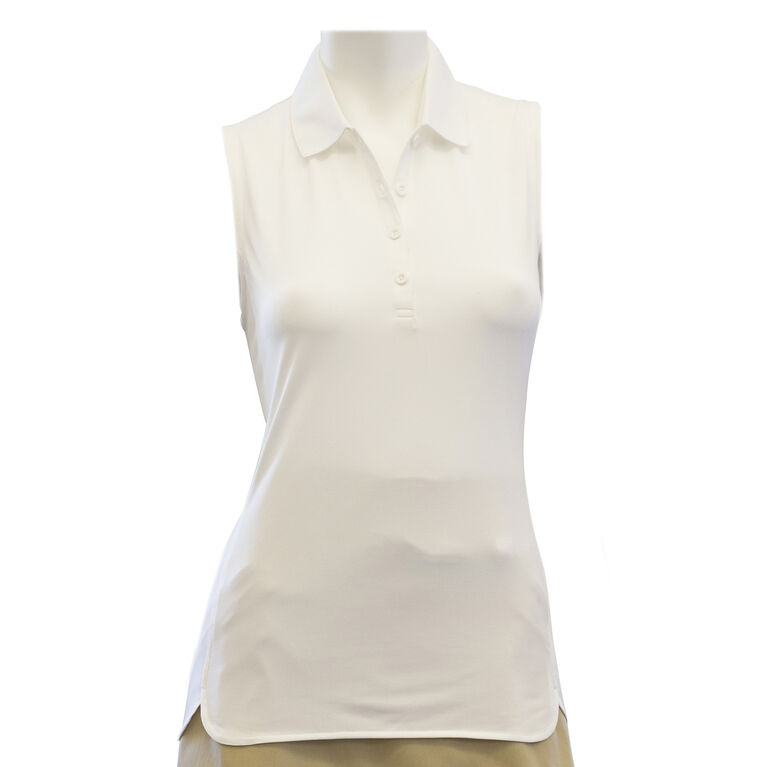 EP Pro Sleeveless Polo with Curved Hem Detail