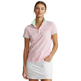 Printed Collar Short Sleeve Tailored Golf Polo