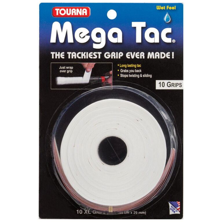 Tourna Mega Tac 10 Pack - White