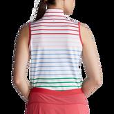 Alternate View 4 of Rainbow Stripe Sleeveless Quarter Zip Polo