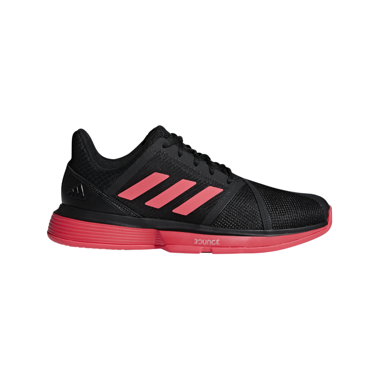 adidas CourtJam Bounce Men's Tennis Shoe - Black/Red