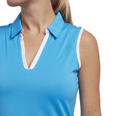 Alternate View 1 of Cheeky Collection: Sleeveless Rounded Hem Polo Shirt