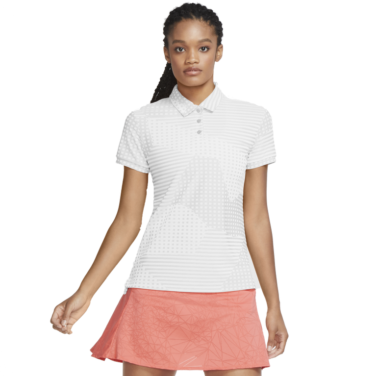Dri-FIT Short Sleeve Dot Striped Ace Women's Golf Polo