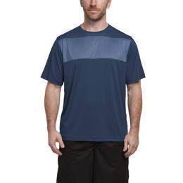 Men's Crewneck Printed Color Block Panel T-shirt