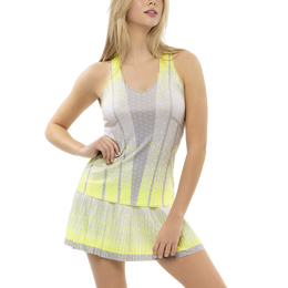 Ombre Sleeveless Pleated Tank Top