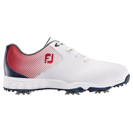 FootJoy D.N.A. Helix Junior Golf Shoe - Red/White/Blue