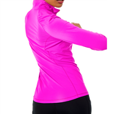 Alternate View 1 of Justine Luxletic  Long Sleeve Solid Quarter Zip Pullover
