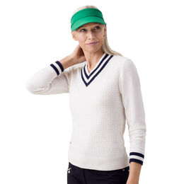 Buffy White Pullover