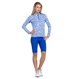 Italian Holiday Collection: Joy Glacia Printed Quarter Zip Pull Over