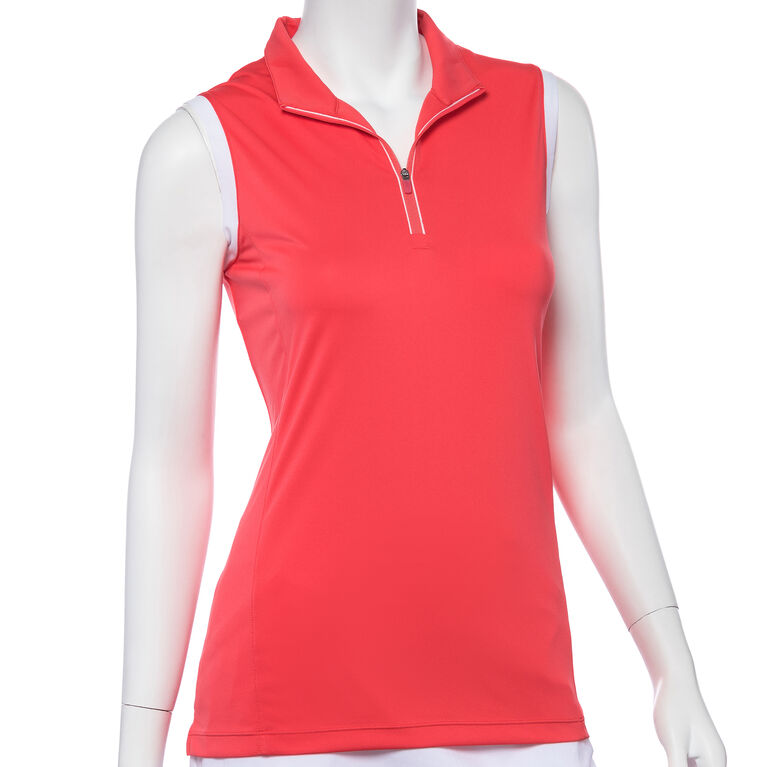Shangri La: Sleeveless Tipped Polo