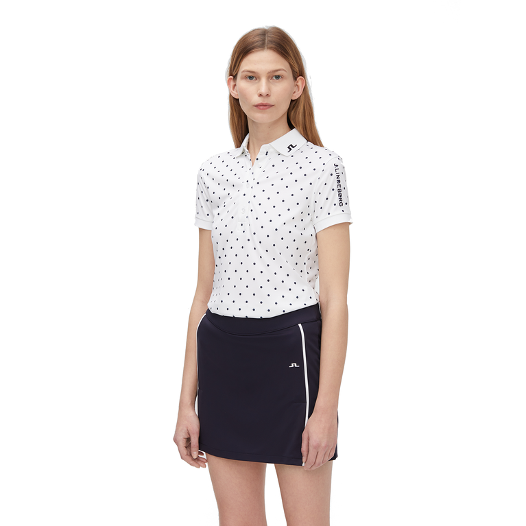 Short Sleeve Polka Dot Tech Polo Shirt