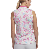 Alternate View 2 of Cheeky Collection: Sleeveless Floral Print Polo Shirt