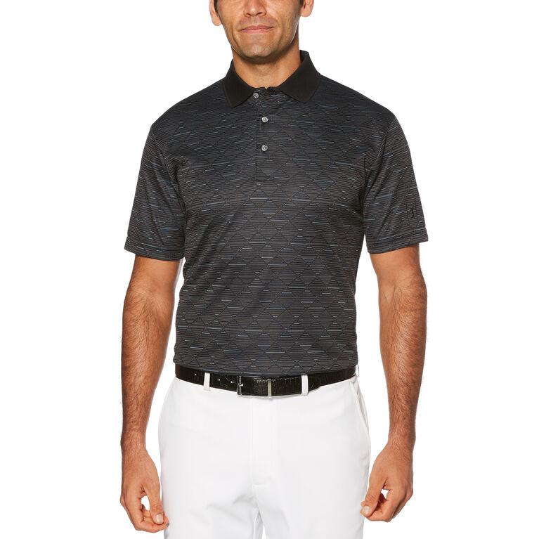 Mini Argyle with Accent Short Sleeve Polo Golf Shirt