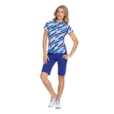 Greek Isles Collection: Short Sleeve Waterway Print Polo