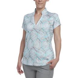 Golden: Short Sleeve Honeycomb Print Polo