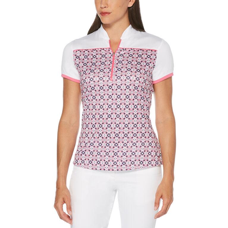 Rose Group: Women's Kaleidoscope Front Print Short Sleeve Golf Shirt