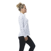 Alternate View 1 of Happy Hour Print Long Sleeve Quarter Zip Pull Over