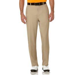 PGA TOUR Extender Comfort Flat Front Pant - Chinchilla