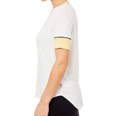 Alternate View 2 of Biltmore Collection: Piped Rib Trim Short Sleeve Top
