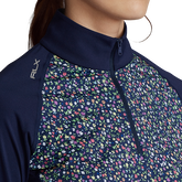 Alternate View 2 of Floral Print Long Sleeve Airflow Quarter Zip Pull Over