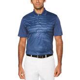PGA TOUR Short Sleeve Asymmetrical Striped Shirt