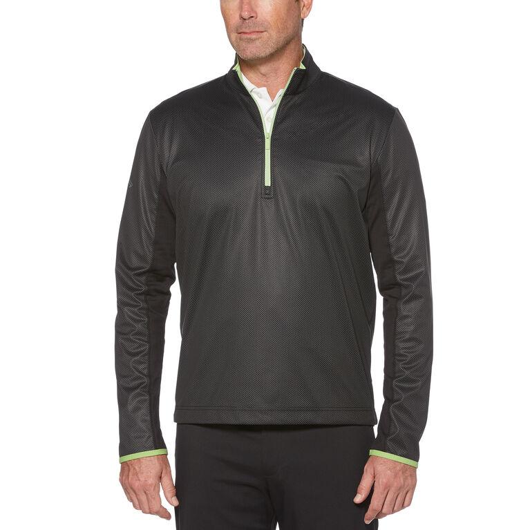 Callaway X Water-Resistant Printed 1/4 Zip Golf Pullover