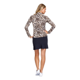 Alternate View 2 of Animal Instincts Collection: Tatianna Cheetah Print Quarter Zip Pull Over