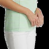 Alternate View 2 of Striped Sleeveless Quarter-Zip Polo Shirt
