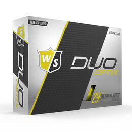 Wilson Staff DUO Soft Optix Yellow Golf Balls - Personalized