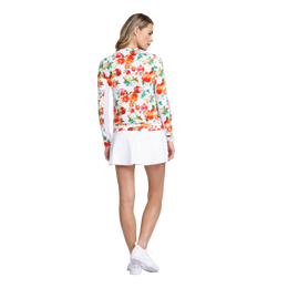 Apollo Long Sleeve Floral Quarter Zip Pull Over