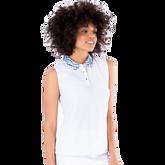 Alternate View 2 of Sportif Collection: Zebra Collar Sleeveless Polo Shirt