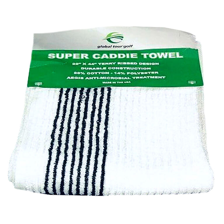 Global Tour Golf Super Caddie Towel White/Black