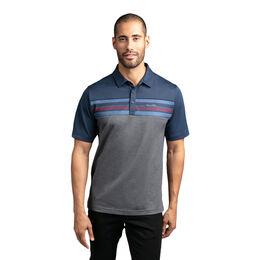 Sand Storm Short Sleeve Color Block Polo