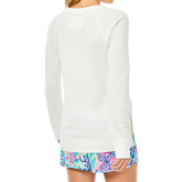 Alternate View 2 of Beach Comber Resort White Luxetic Pullover