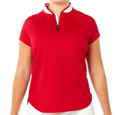 Alternate View 1 of Zip Polo Short Sleeve Top