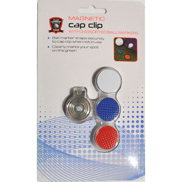 Magnetic Cap Clip - w/ 3 Ball Markers