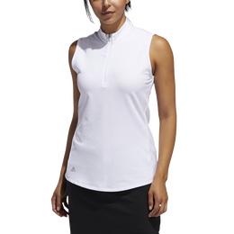 Sleeveless Jacquard Golf Shirt