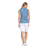 Alternate View 1 of Tranquil Bay Collection: Leopard Print Sleeveless Golf Top