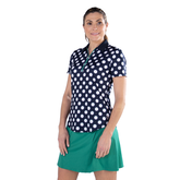 Alternate View 4 of Appletini Collection: Short Sleeve Polka Dot Polo