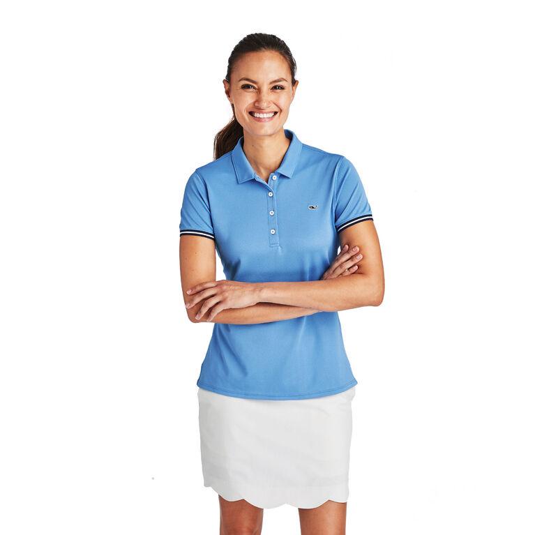 Short-Sleeve Solid Pique Polo